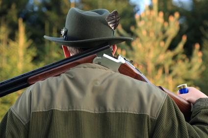 Jäger mit Jagdgewehr
