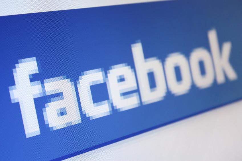 Das Facebook-Logo auf weißem Hintergrund